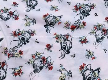 Edredón de algodón de 50x175cm con diseño de ciervo tejido, para costura de tela, acolchado, costura artesanal, ropa de cama