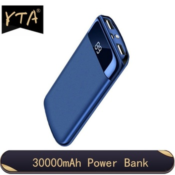 30000mah Power Bank External Battery PoverBank 2 USB LED Powerbank Portable Mobile phone Charger For Xiaomi Samsung iphone XS
