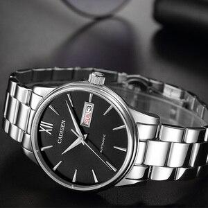 Image 4 - CADISEN zegarek męski automatyczne zegarki mechaniczne japonia NH36A rola data tydzień Top luksusowa marka zegarek na rękę zegar Relogio Masculino
