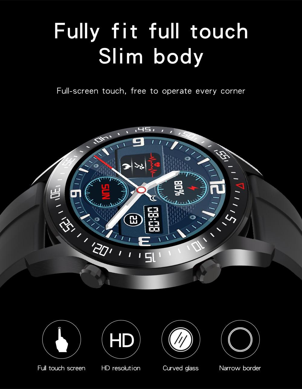 Hb865b00152e243e384208c635a41e8ceV XUESEVEN 2021 HD Full circle touch screen Mens Smart Watches IP68 Waterproof Sports Fitness Watch Fashion Smart Watch for men