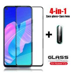На Алиэкспресс купить стекло для смартфона 4-in-1 for glass huawei y7p tempered glass for huawei y5p y6p y9s y8s camera lens screen protector hd film glass for huawei y7s