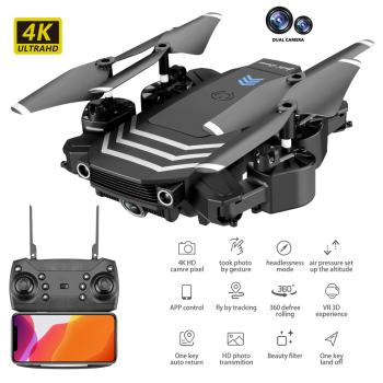 цена на LS11 RC Drone 4K HD Camera Mini Drone Foldable WIFI FPV Dual Camera Drone Professional Quadcopter Altitude Hold RC Quadcopter