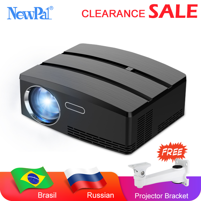 Newpal Mini Projetor de Cinema Em Casa Projetor 3D Android WIFI 1800 Lúmen Projetor 720P LED Projetor GP80 UP Brasil RussiaBracket