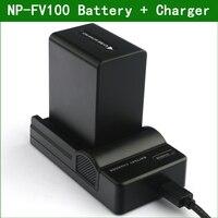 Перезаряжаемая батарея LANFULANG NP FV100 для цифровой камеры  зарядное устройство USB для Sony  NP-FV100  с зарядным устройством USB  для Sony  с зарядным устро...
