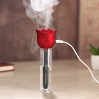 Rose Flower USB Humidifier Air Purifier Aroma Diffuser Atomizer Office Home|Humidifiers| |  -