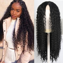FANXITON Black Long Curly Lace Wigs for Women 13x4 Loose Hai