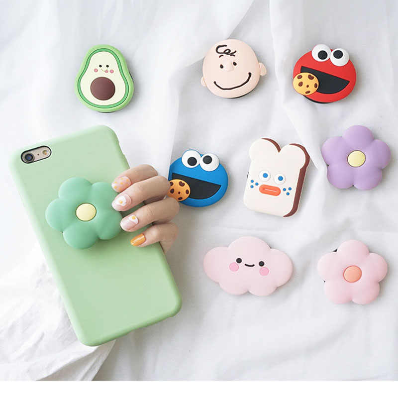 Universal 3D mobile Phone Stretch Bracket Cartoon Air Bag Phone Expanding phone Stand Finger car phone Holder for huawei
