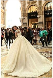 Image 3 - Robe de mariée élégante à manches 2020, robe de mariée élégante, modèle 3/4