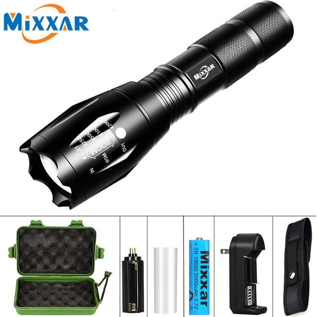 T6 L2 V6 LED Flashlights Tactical Zoomable 5 Modes Rechargeable 18650 battery Q250 TL360 Torch Light Lantern Camping flashlight 1