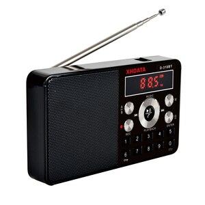 Image 2 - XHDATA D 318BT mini lecteur mp3 radio stéréo fm écran portable peut prendre en charge lenregistrement MP3 répétition fonction haut parleur avec carte TF