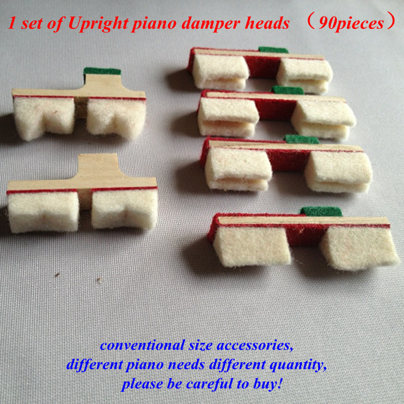 1 Set Of Upright Piano Damper Heads (90pieces)  Conventional Size Quantity    Piano Tuning Accessories  Piano Repair Parts