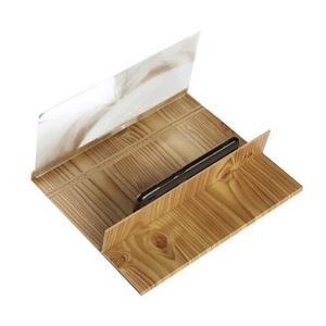 Image 3 - Lupa 3d plegable de 12 pulgadas para el teléfono, pantalla con marco de madera, lupa de vídeo HD, soporte de cristal, soporte para tableta, protección ocular
