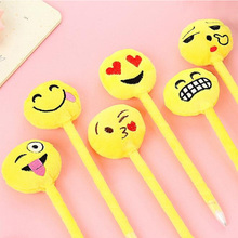 3pcs/lot Novetly 3D Expression Design Fluffy Ballpoint Pen Funny Gift Office School Stationery Supplies expression matchstick style plastic ballpoint pen pink yellow