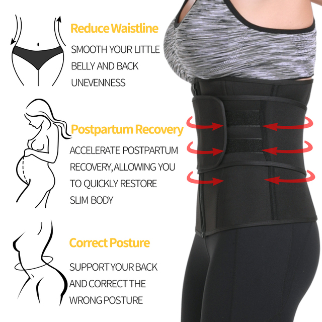 Waist Trainer Neoprene Sweat Shapewear Body Shaper Women Slimming Sheath Belly Reducing Shaper Workout Trimmer Belt Corset 3