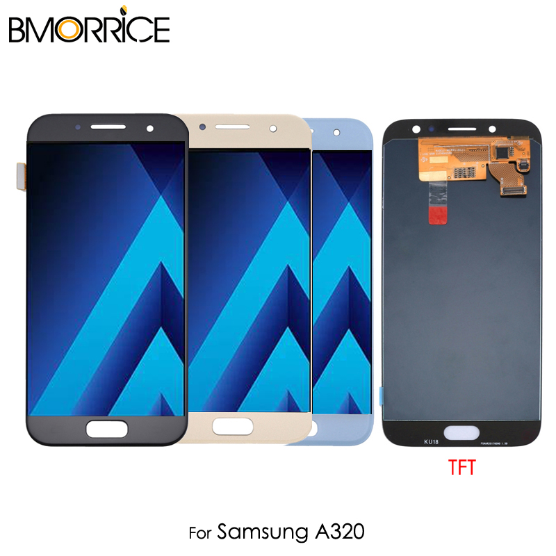 For <font><b>Samsung</b></font> Galaxy A3 2017 <font><b>A320</b></font> A320F <font><b>LCD</b></font> Display Touch Screen Digitizer Assembly Replacement Ajustable Brightness image