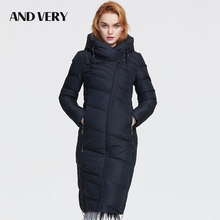 ANDVERY2019 Winter new arrival winter jacket women new style fashion coat thick cotton long winter warm big size coat women 8179(China)