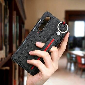 Metal Ring Holder for Huawei P30 Lite Case Funda Huawei P30 Pro Case Cloth Card Slot Back Cover Huawei P20 Lite Case 20 P 30 Pro