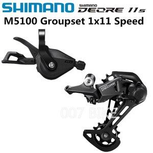 Image 1 - SHIMANO DEORE M5100 Groupset SL M5100 рычаг переключения передач RD M5100 задний переключатель передач MTB DEORE 11 скоростей SL + RD M5100 Groupset