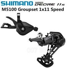 Shimano Deore M5100 Groepset Sl M5100 Versnellingspook + Rd M5100 Achterderailleur Mtb Deore 11 Speed Sl + rd M5100 Groepset