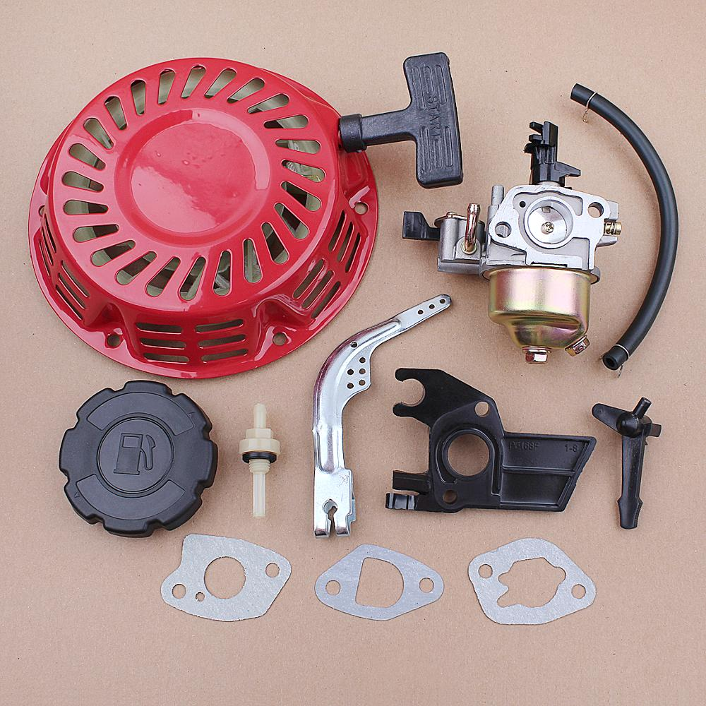 Carburetor Recoil <font><b>Starter</b></font> Spark Plug Set for <font><b>Honda</b></font> GX120 <font><b>GX160</b></font> GX200 5.5HP 6.5HP Pressure Washer 28400-ZH8-023YA image