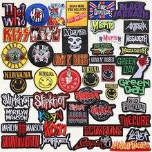 A Rock band – bandeau en métal lourd, Badges brodés, appliqués, fer à coudre sur Badge, vêtements, accessoires pour vêtements