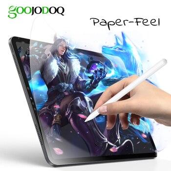 GOOJODOQ Paper Like Screen Protector for iPad 2018 Pro 11 10.5 Air 2 1 iPad 2 3 4 iPad Mini 5 4 3 2 1 Anti-Glare Matte PET Film