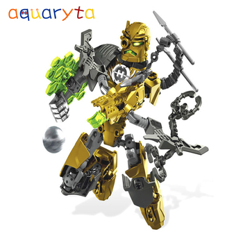 Aquaryta Series Hero Factory ROCKA Building Blocks Set Figures Bricks Toy Compatible with All Brands Enlighten Toys Gift for Boy image