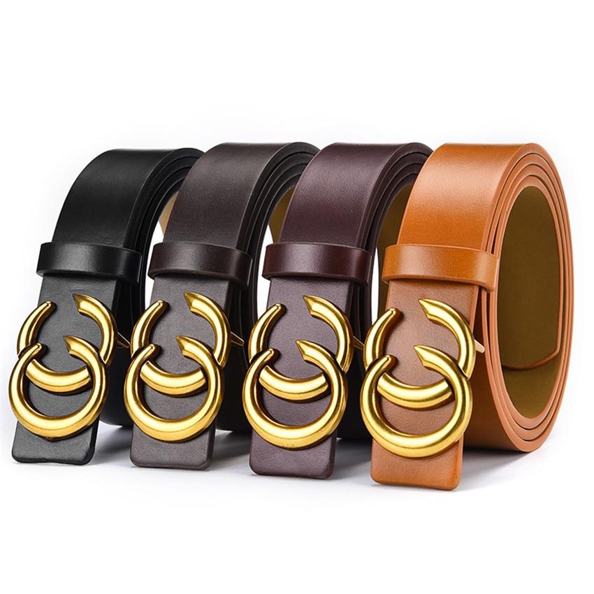 Fashion Designer Belts For Women Men Luxury Leather Waist Belt For Jeans Dress Pants With Gold Double C Logo Flip Top Buckle
