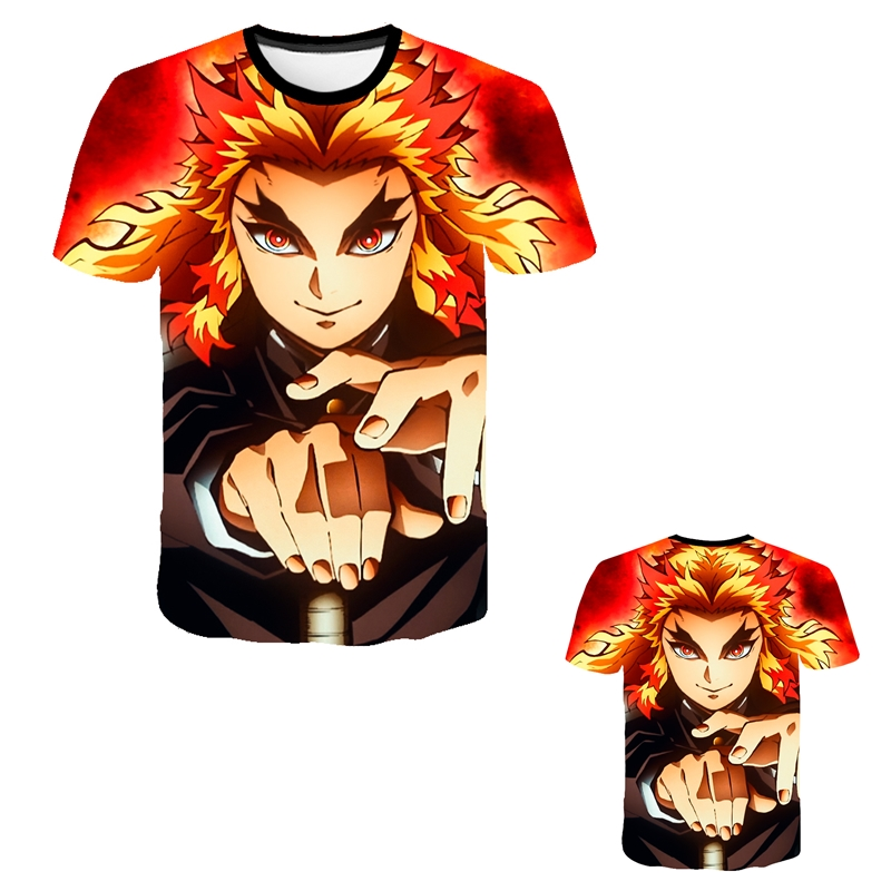 Kids Boys Devils killer T-shirts 3d Print Cosplay Japanese Ghost blade Children Summer Short Sleeve Tshirts Demon Slayer Clothes 20
