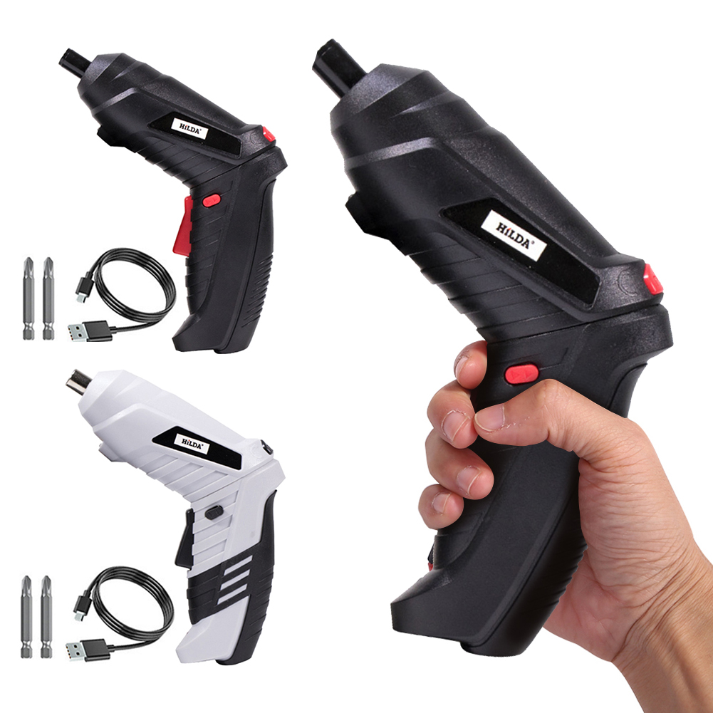 Electric Screwdriver Cordless Multi-function Power Drill Hole Lithium Battery Rechargeable Screwdriver Household DIY Power Tools