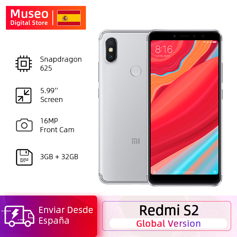 Xiaomi Redmi S2 смартфон с 5,99-дюймовым дисплеем, процессором Snapdragon 625, ОЗУ 3 ГБ, ПЗУ 32 ГБ, 16 МП, Android 8,1