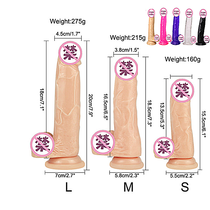 Soft Jelly Dildo Realistic Anal Dildo <font><b>Penis</b></font> Suction Cup Male Dick Female Masturbation Erotic <font><b>Toys</b></font> for <font><b>Adult</b></font> <font><b>Sex</b></font> <font><b>Toys</b></font> for Woman image