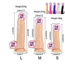 Soft Jelly Dildo Realistic Anal Dildo Penis Suction Cup Male