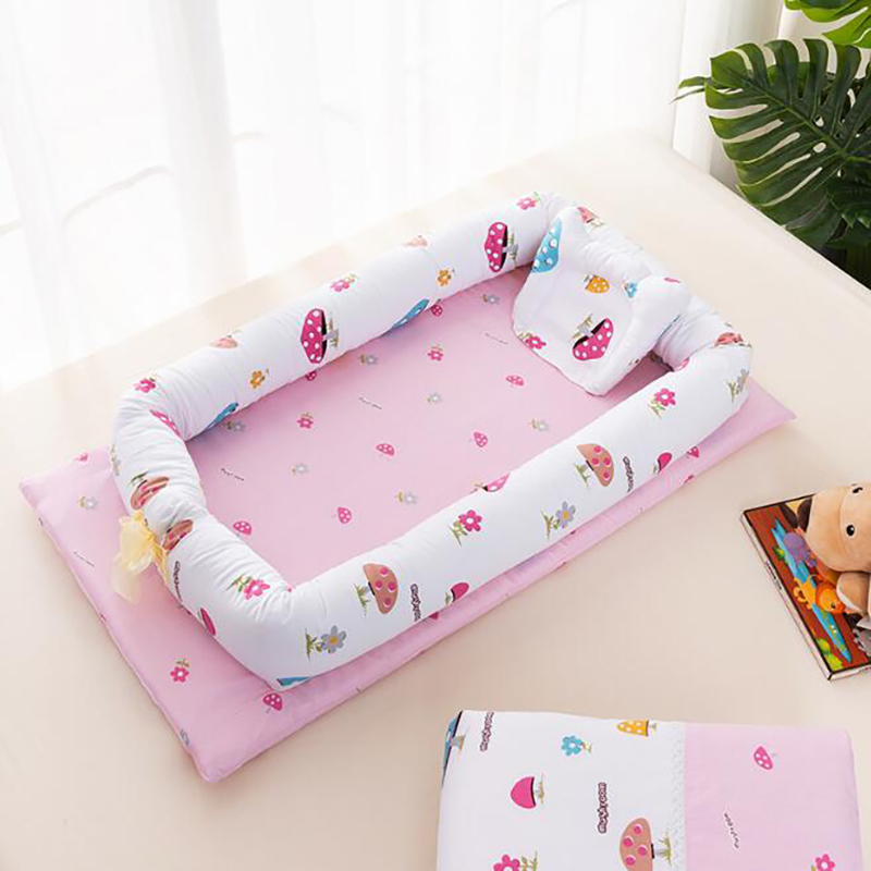 Portable Crib Travel Baby Bed Cotton Baby Newborn Sleeping Basket Nest Crib Protection Pad Bumpers YCQ001