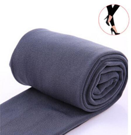 2020 Autumn winter woman thick warm leggings candy color brushed charcoal Stretch Fleece Pants Trample Feet Leggings 19