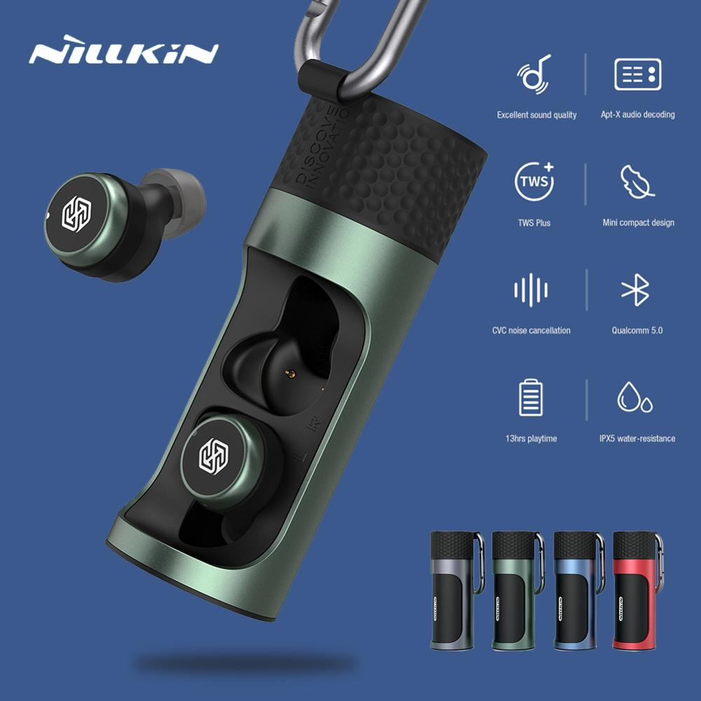 Nillkin True Wireless Earbuds GO TW004 Headset Bluetooth 5.0 Earphone with Mic, CVC Noise Cancelling IPX5 Water-Proof Headphones