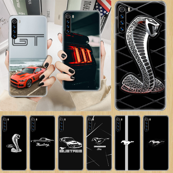 Car Logo Fords Mustang GT Phone Case cover For XIAOMI Redmi Note 3 4 4X 5 6 7 8 9 Pro T S max transparent cell cover luxury image