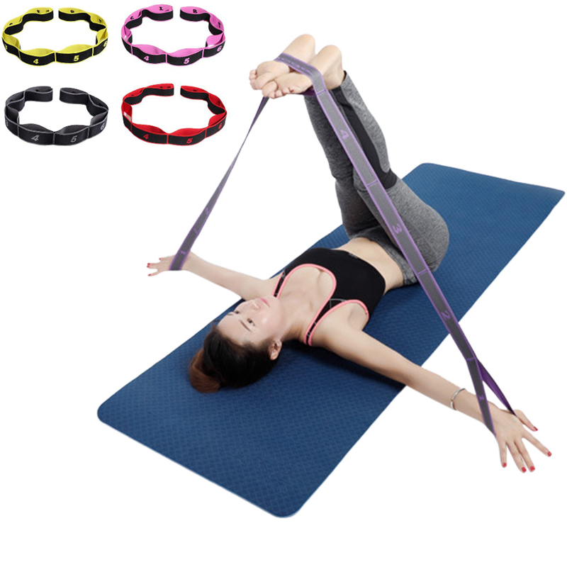 Women Yoga Stretch Strap Adults Latin Dance Belt Fitness Exercise Gym Rope Figure Waist Leg Resistance Fitness Bands Yoga Belt