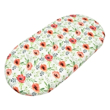 A5YC Baby Moses Basket Sheets Crib Care Changing Pad Mattress Printed Removable Cover