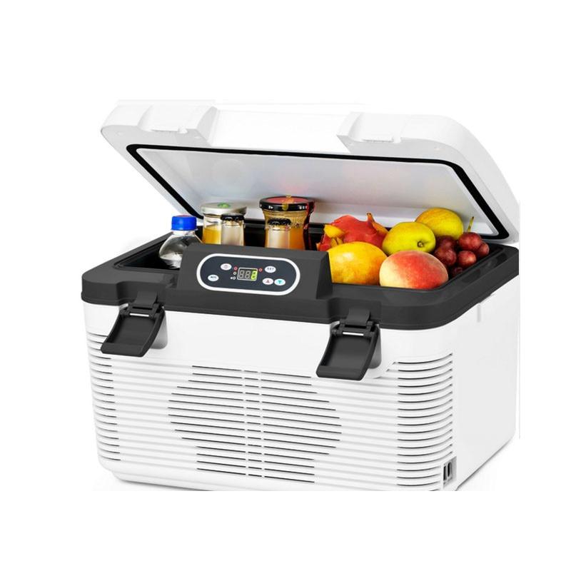 Hot Sale 25l Car Refrigerator Dual-use Cool Heat Mini Refrigerators Freezer -3~-5 Degrees Below Zero Heating 65 Degree