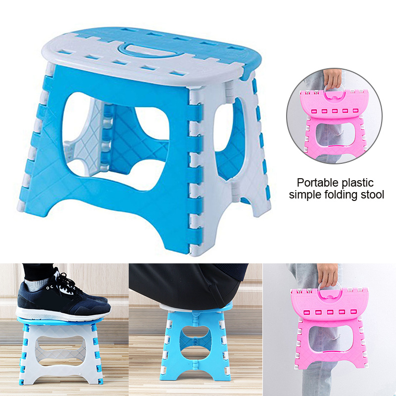 Folding Step Stool Lightweight Sturdy Support Adults Kids For Kitchen Bathroom Bedroom TP899