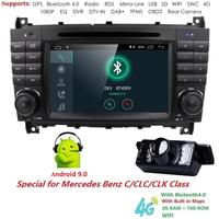 Android 9.0 2 Din 7 Inch Car DVD GPS Video Player For Mercedes/Benz W203 W209 W219 A Class A160 C Class C180 C200 CLK200