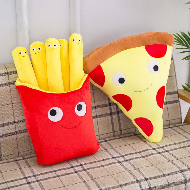 Baby Pillow French Fries Pillow Pizza Plush Toys Kids Dolls Birthday Gift Present Children Toy Soft Cushion Pillow Boy Girl Gift