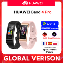 Version mondiale Huawei Band 4 Pro Amoled 0.95 'métal matériel test d'oxygène sanguin capteur de fréquence cardiaque Bracelet de sommeil