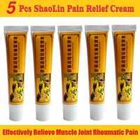5 unids/lote crema de alivio del dolor Shaolin chino adecuada para la artritis reumatoide en la espalda bálsamo de hierbas para aliviar el dolor ungüento