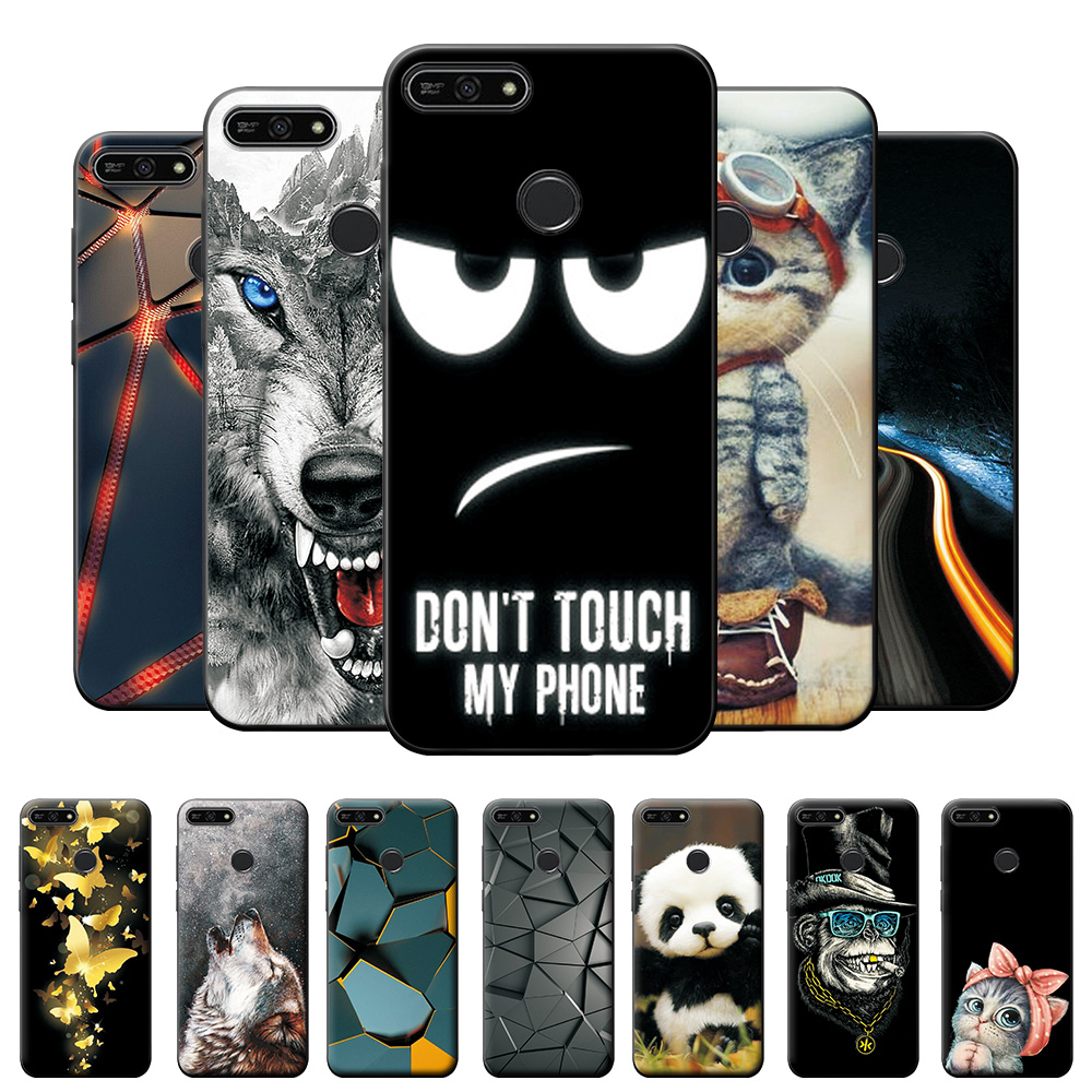 Honor 7A Pro Case For Honor 7C RU Shockproof Protective Case For Huawei Y6 Prime 2018 5.7 inch Soft Silicone Cover Case Bumper