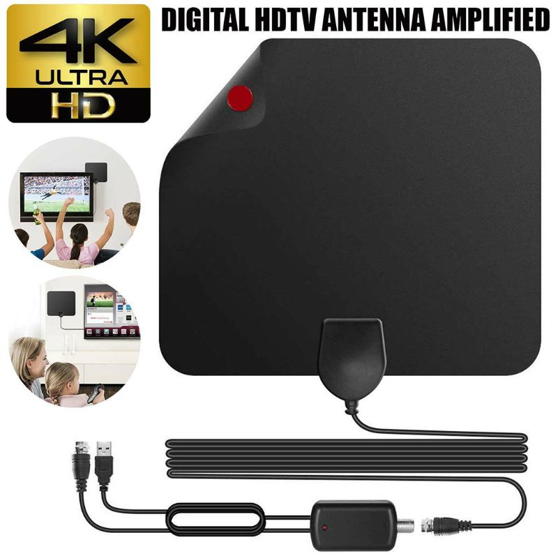 Home TV Antenna Indoor Outdoor HDTV Digital Channels 4K Television Receiving Equipment Accessories