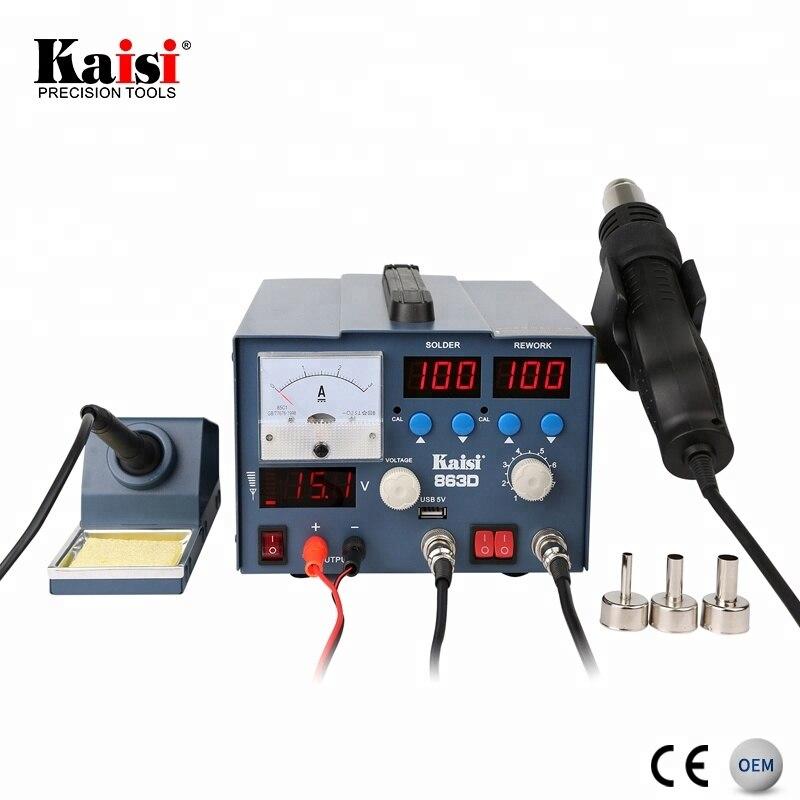 Kaisi мобильный телефон сварочная 3 в 1 SMD паяльная станция горячего воздуха с блоком питания 3A DC