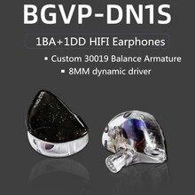 جديد BGVP DN1s 1DD + 1BA الهجين سماعات أذن داخل الأذن HIFI الموسيقى دي سماعات انفصال MMCX DMS DM7 DM6 DH3 DX3 DX5 DH3 ZSN DT6 PRO T3