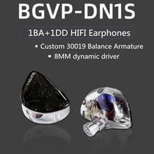 BGVP auriculares internos híbridos DN1s 1DD + 1BA, HIFI, música DI, desmontables MMCX DMS DM7 DM6 DH3 DX3 DX5 DH3 ZSN DT6 PRO T3